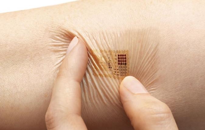 adhesive health monitoring tracker